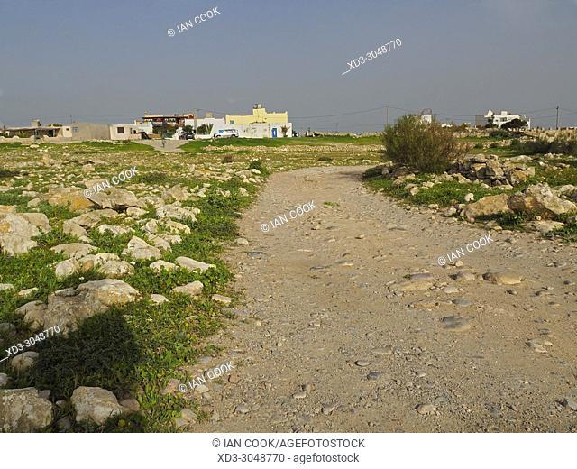 gravel lane in Sidi Kaouki, Morocco