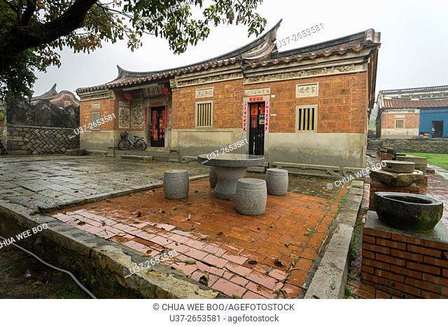 Yard of Taiwanese classical old house, Jincheng, Kinmen, Taiwan