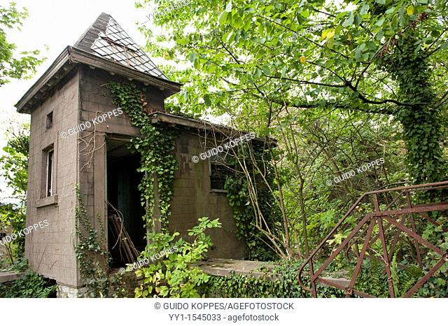 Huy, Luik / Liege, Belgium. Chapel on the grounds of former Hotel Rouge, abandoned after filing for bankruptcy