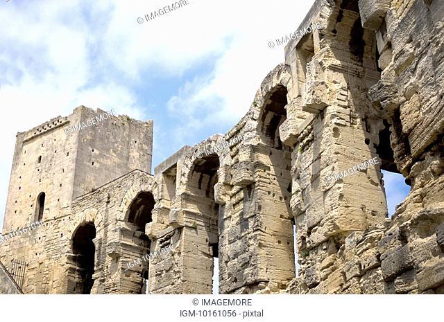 Antique Roman amphitheater's in Arles, Provence-Alpes-Cote d'Azur, France