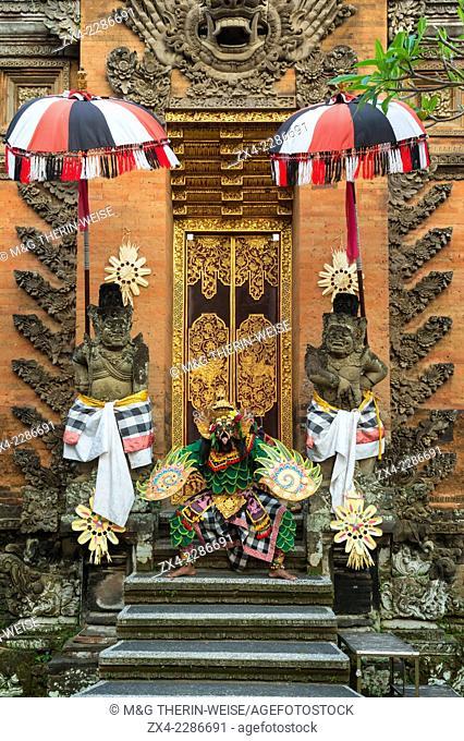 Balinese Kecak dancer, Ubud, Bali, Indonesia