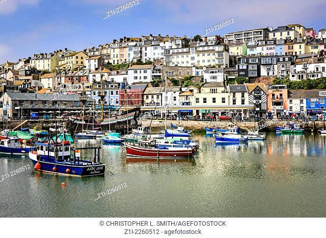 The picturesque harbor at Brixham in Devon
