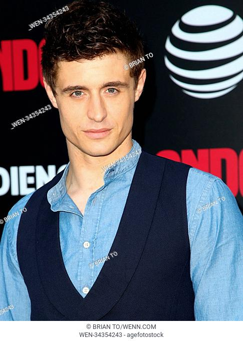 "Celebrities attend AT&T AUDIENCE Network's ""Condor"" premiere red carpet at NeueHouse Hollywood. Featuring: Max Irons Where: Los Angeles, California"