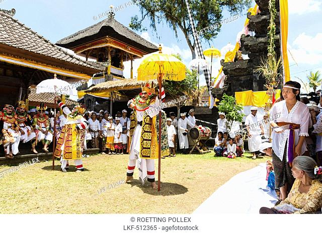 Traditional dance, Odalan temple festival, Sidemen, Bali, Indonesia