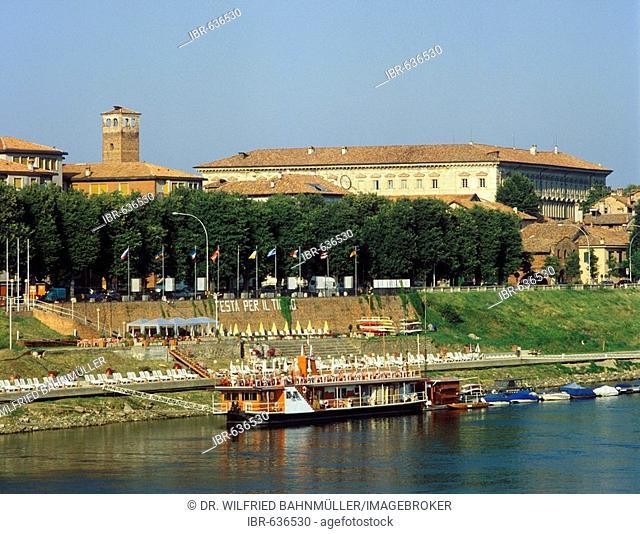 Collegio Borromeo and the Ticino River, Pavia, Lombardy, Italy