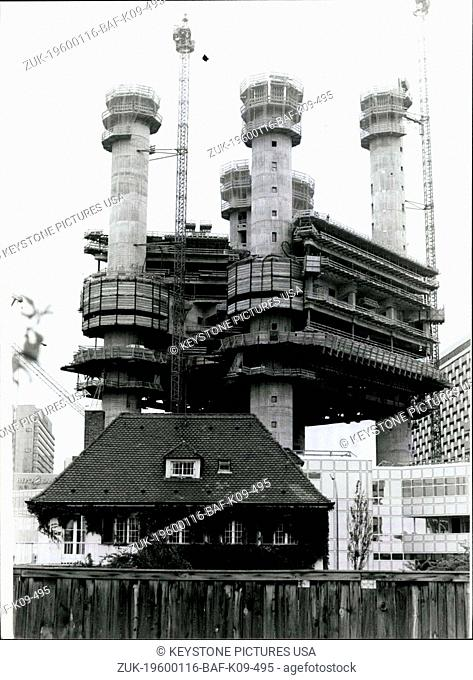 1980 - Pushed to the wall. seems to be this small house by the giant 'neighbouring' one. The colossus is erected just in Munich/West Germany as the 'Technic...