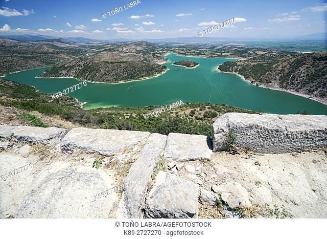 Kestel Dam from Pergamon. Ancient Greece. Asia Minor. Turkey