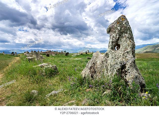 Zorats Karer megalithic site in Armenia