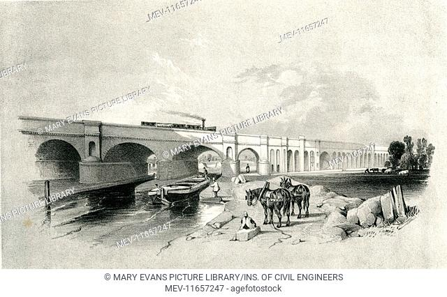 London and Greenwich Railway. View from the Surrey Canal