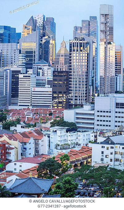 Chinatown and the Financial District, Singapore