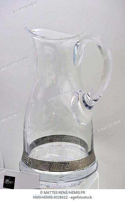 Czech Republic, West Bohemia, Karlovy Vary, Moser crystal glassworks, the store