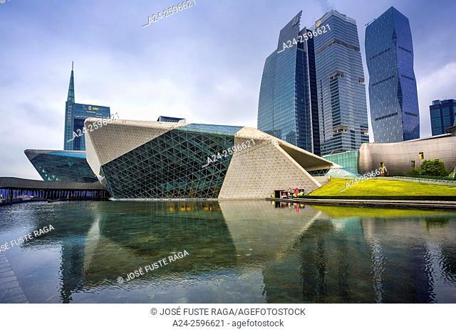 China, Guangdong Province, Guangzhou City,Wuyang New Town, Guangzhou Opera House Bldg