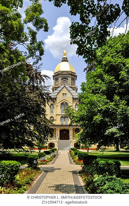 The Golden Dome, built by Sorin and the symbol of the University of Notre dame IN