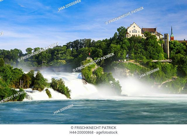 The Rhine Falls with the Laufen castle, Switzerland