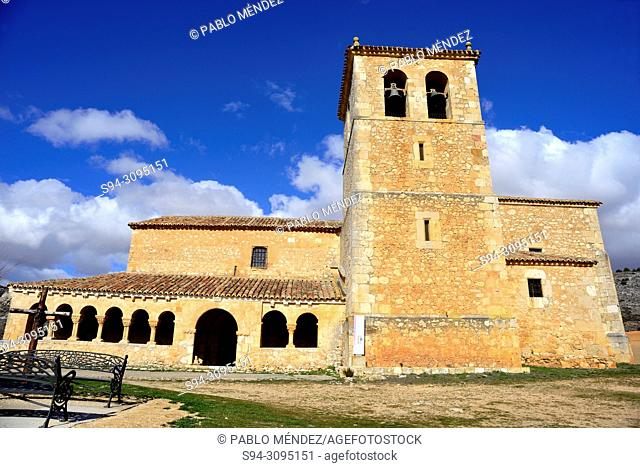 Church of San Miguel Arcangel in Andaluz, Soria, Spain