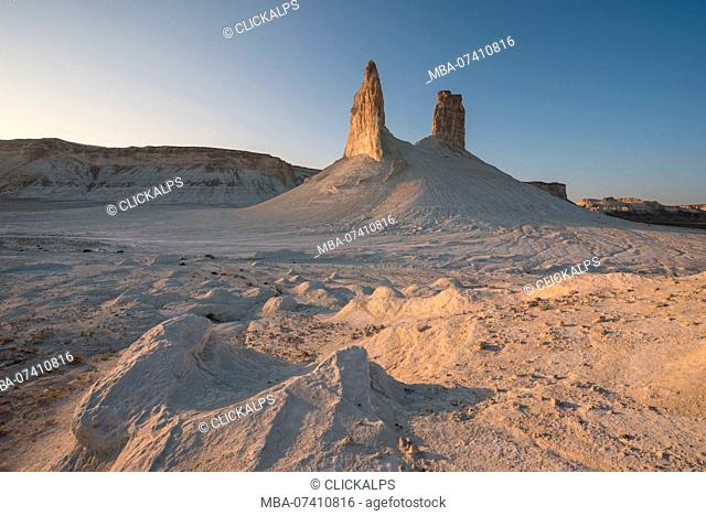 Rock formations at Boszhira at the Caspian Depression, Aktau, Mangystau region, Kazakhstan
