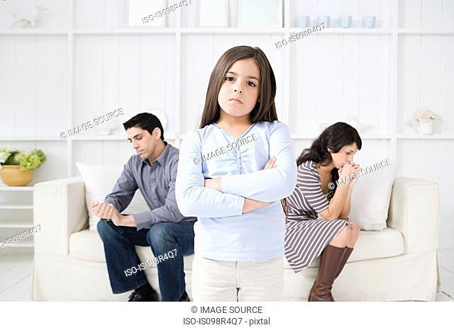 Hispanic girl with hostile parents