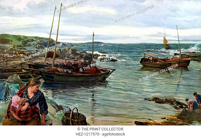 'Home with the Tide', 1880, (1912). A colour print from Famous Paintings, with an introduction by Gilbert Chesterton, Cassell and Company, (London, New York