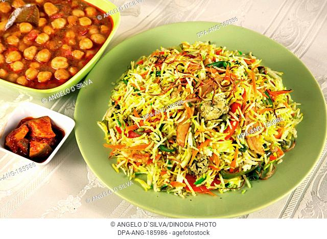 Vegetable Biryani with Chhole India PR#743AH