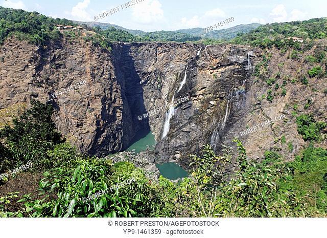 Jog Falls in the dry season, Karnataka, India