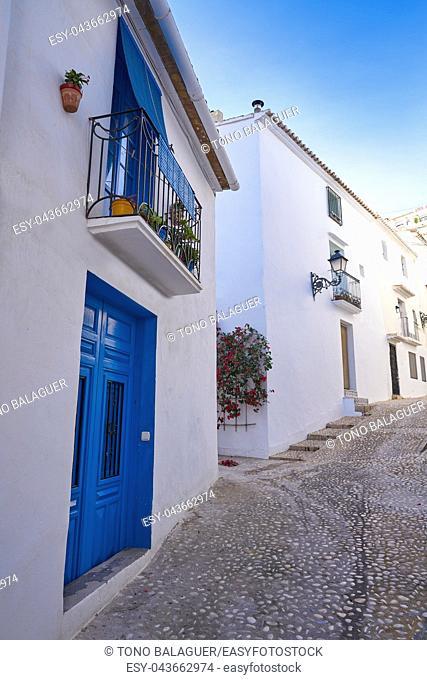 Altea white village in Alicante at Mediterranean Spain