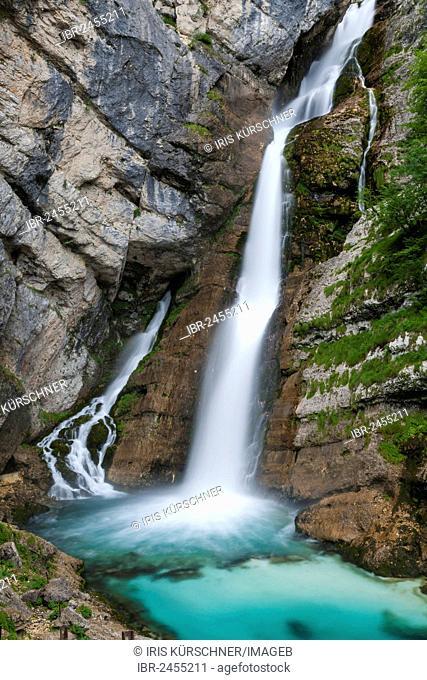 Savica Waterfall, Triglav National Park, Slovenia, Europe