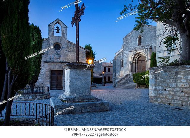 Wrought Iron cross at Place de Saint Vincent, Les Baux de-Provence, France