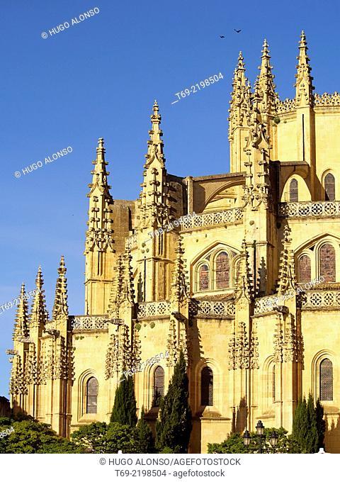 Back of the Cathedral of Segovia. Segovia. Spain