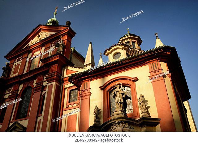 Czech Republic, Prague, historic centre listed as World Heritage by UNESCO, Hradcany district, Prague castle, St George's Basilica