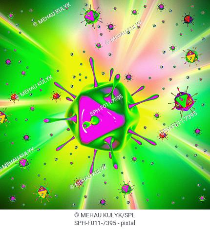 Virus, computer illustration
