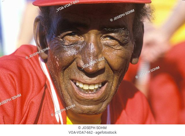 An African-American senior citizen at the Senior Olympics, St. Louis, MO