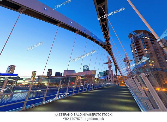 The Lowry bridge, Salford Quays, Manchester, England
