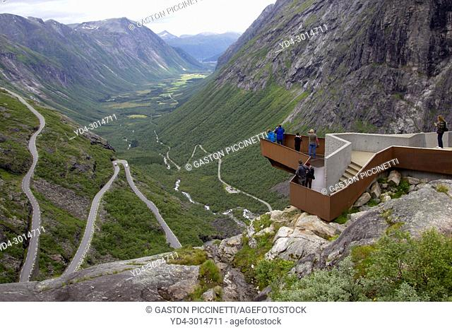 Trollstigen viewing platform, National Tourist Route Geiranger - Trollstigen, Scandinavian, Norway
