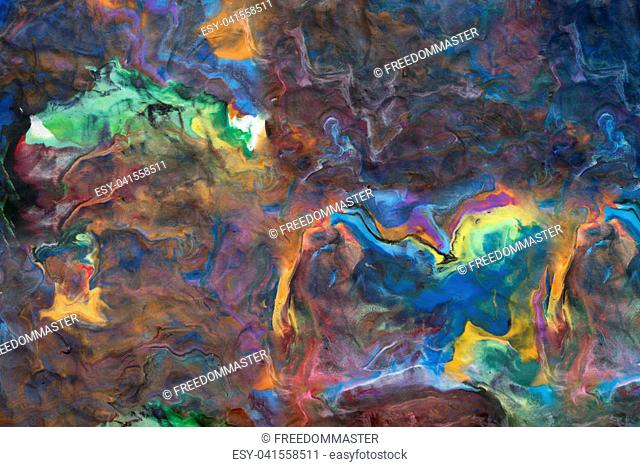 Abstract background with fingerprints made from Play Clay
