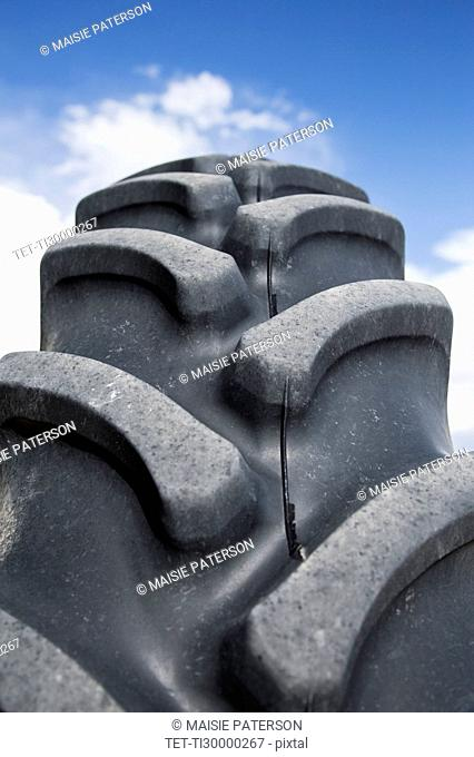 Close up of tractor tire