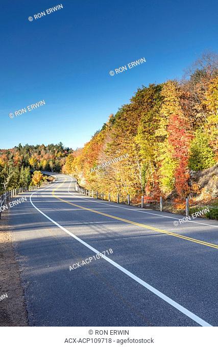Highway 60 in Algonquin Provincial Park, Ontario, Canada