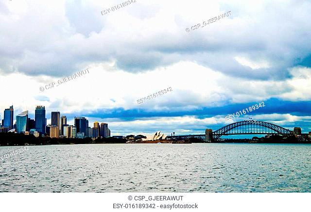 Opera house and Harbour bridge in Sydney Australia17
