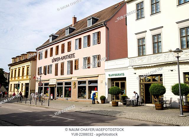 Weimar main street, federal state of Thuringia, Germany, Europe