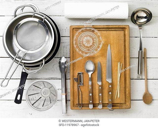 Kitchen utensils for making soup