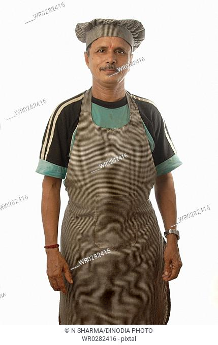 Indian man profession Hotel Cook with apron and cap MR 693T