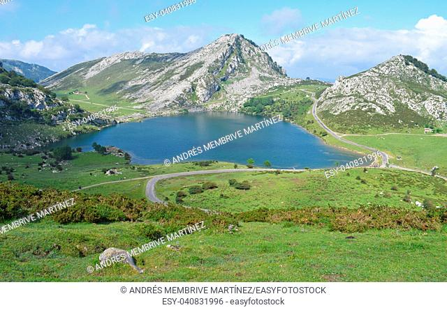 . . Lakes of Covadonga in Asturias Spain