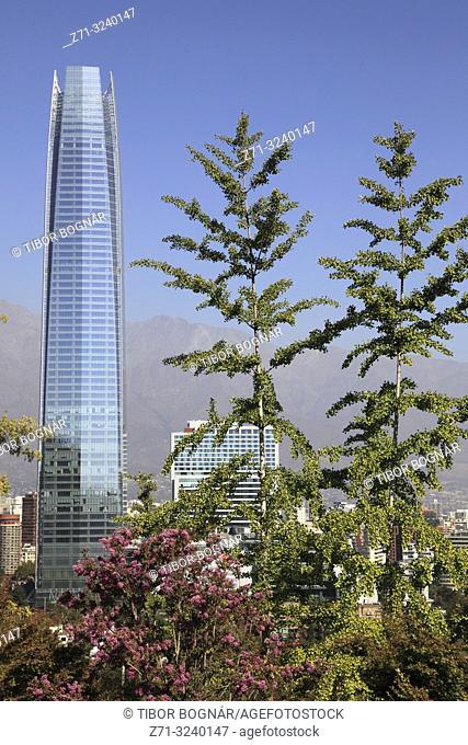 Chile, Santiago, skyline, Costanera Center, Gran Torre,