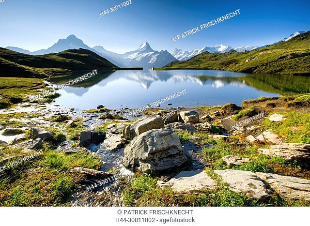 Bachalpsee, Wetterhorn, Schreckhorn, Finsteraarhorn, Schweiz