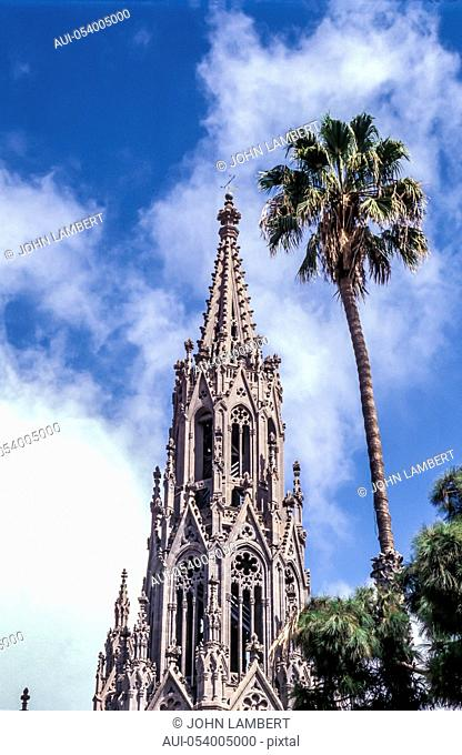 spain - canary islands, gran canaria, arucas, the cathedral