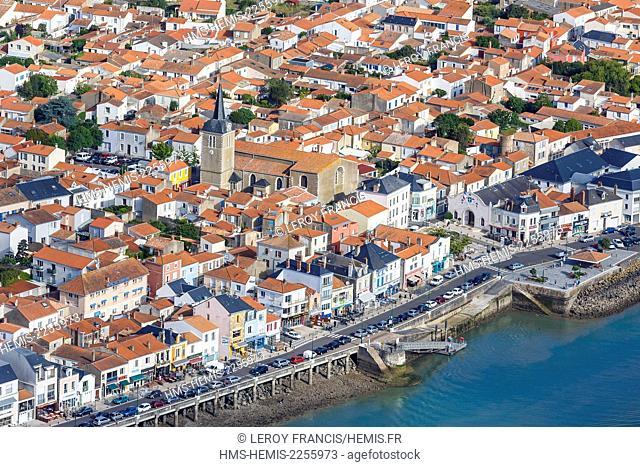 France, Vendee, Les Sables d'Olonne, La Chaume (aerial view)