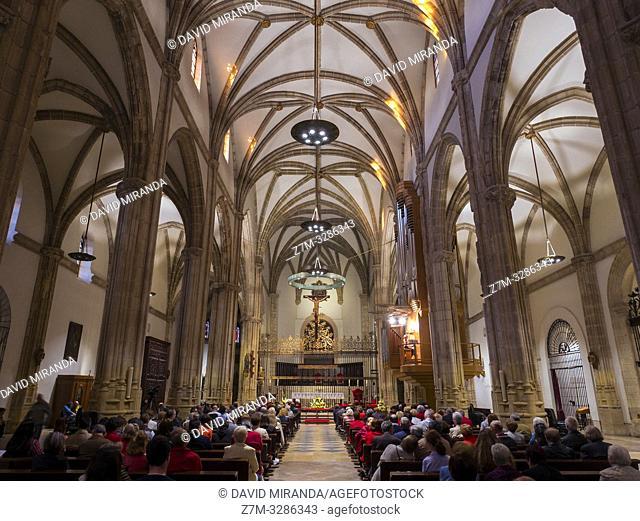 Catedral de Alcalá de Henares al atardecer. Madrid. España