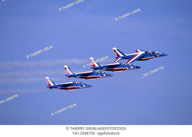 France, Meurthe et Moselle (54), air base of Nancy-Ochey, French aerobatic team La Patrouille de France