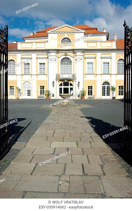 Entrance Gate of Duchcov Chateau, Usti nad Labem Region, Czech Republic