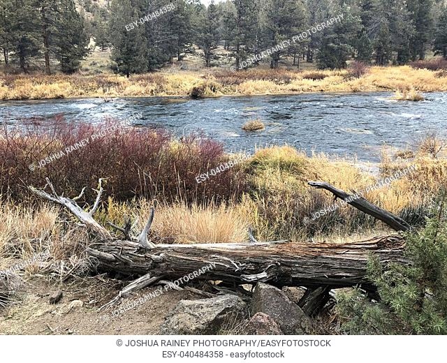 Deschutes River in Central Oregon on the middle fork section near Bend
