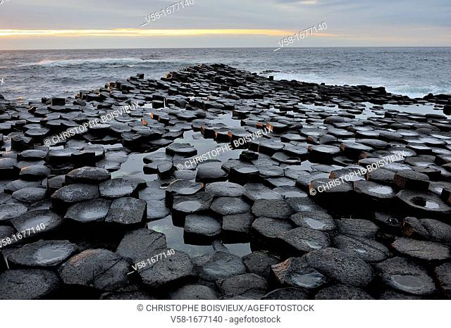 United Kingdom, Northern Ireland, Antrim coast, Giant's Causeway  Legend has it that the Irish giant Fionn mac Cumhaill Finn McCool built the causeway to walk...